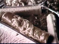 Swanson TV Dinner commercials (video) -  You could totally replace the presenter in the 2nd commercial with Nigella Lawson - they describe food in EXACTLY the same way!
