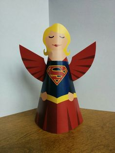 Superhero angels! Free printables, lots more characters at the link (Batgirl, Thor, Wonder Woman, etc)