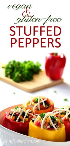 vegan and gluten-free stuffed peppers