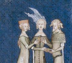 Enluminure du folio 56R du manuscrit Bnf 1586