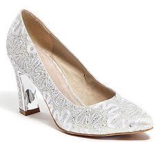 Lady Couture Women's Elegant Closed Toe Heels Dressy Shoes Lace Pumps Silver #LadyCouture #PumpsClassics