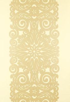 Gold and white ivory  damask