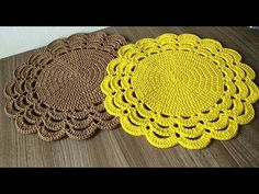 Crochet Circles, Crochet Round, Love Crochet, Crochet Motif, Crochet Flowers, Crochet Stitches, Crochet Bag Tutorials, Crochet Videos, Crochet Placemat Patterns