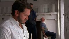 "Burn Notice 2x10 ""Do No Harm"" - Sam Axe (Bruce Campbell), Todd (Graham Shiels) & Philip (Matthew Humphreys)"