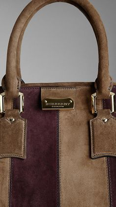 Burberry Orchard Bag In Suede Stripes