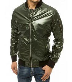 Zelená pánska bomber bunda Bomber Jacket, Jackets, Zip, Products, Fashion, Down Jackets, Moda, Fashion Styles, Fashion Illustrations
