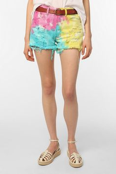Urban Renewal Tie-Dye Jean Short I need these in my life! :)