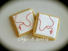 Cookies for First Communion or Confirmation #rosary