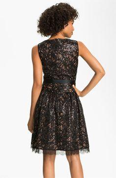 Eliza J V-Neck Sequin Fit & Flare Dress | Nordstrom