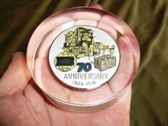 Vintage 1974 Besser Concrete Company 70th Anniversary Paperweight