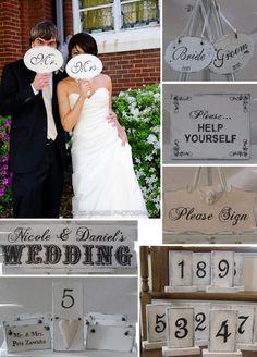 Shabby Chic Wedding Signage