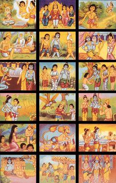 Ramayana Story Hanuman Ji Wallpapers, Hanuman Wallpaper, Radha Krishna Wallpaper, Ramayana Story, Storytelling Books, Shri Ram Photo, Lord Rama Images, Indian Illustration, Ram Photos