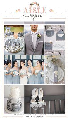 Monochrome Grey wedding inspiration board