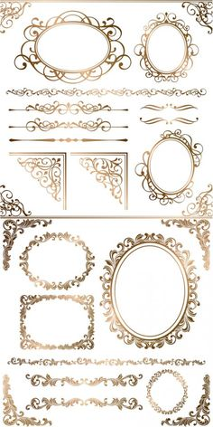 Free-gold-ornamental-frames-borders-corners-vector