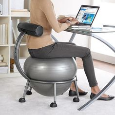 Fitball Balance chair - excercises you whilst you work!! / TechNews24h.com