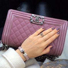 Chanel Boy bag and Hermes Clic Clac bracelet
