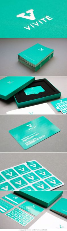 Bold aqua and eye catching design- Vivité  is beautiful #identity #packaging #branding