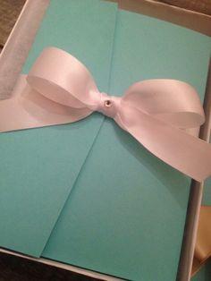 Tiffany & Co. Bridal Shower Invitations!!!