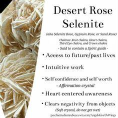 Desert Rose Selenite crystal meaning