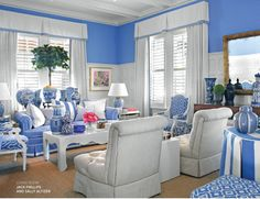 Bold Blue - love this room!