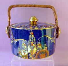 Carlton Ware Fantasia Biscuit Jar Glass Ceramic, Ceramic Pottery, Pottery Art, Cookie Jars, Cookie Containers, Coffee Biscuits, Carlton Ware, Antique Perfume Bottles, Biscuit Cookies