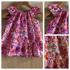 Eyelet Spring/Summer Tiered Dress. Size 12 months.