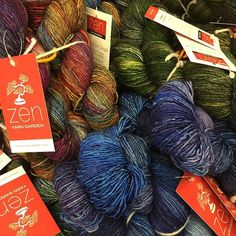 It's dangerous to visit the studio because I just want to load up all the yarn and add it to my stash! Do you think anyone would notice??  #zenyarngarden #handdyed #handdyedyarn #lifeofadyer #yarn