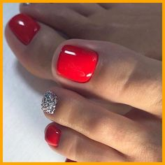 Pretty Toe Nails, Cute Toe Nails, Fancy Nails, Gorgeous Nails, Trendy Nails, Toe Nail Color, Toe Nail Art, Nail Colors, Pedicure Nails
