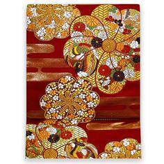 お仕立て込:河合美術織物謹製 京西陣織袋帯【錦霞寿菊文】