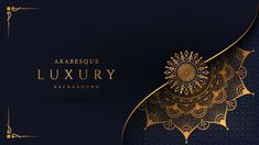 Luxury mandala background with golden arabesque pattern arabic islamic east style Premium Vector Mandala Background, Islamic Background Vector, Background Images, Photo Backgrounds, Wallpaper Backgrounds, Motif Arabesque, Visiting Card Design, Luxury Background, Mandala Tattoo