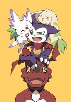 Manga Art, Manga Anime, Anime Art, Digimon Seasons, Digimon Wallpaper, Digimon Frontier, Digimon Tamers, Digimon Digital Monsters, Digimon Adventure Tri