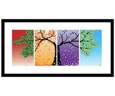 Four Seasons Art Work Digital Print 4 by SMARTdesignsbyStacey, $35.00