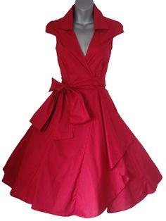 f51e7a519b153 Robe de Soiree ,Rouge, Vintage Rockabilly style,Retro Années 50, Jupe,  Swing,Pin up ,Parfaite Pour Soiree Dansante, Rouge, Taille 34-50 (34)   Amazon.fr  ...