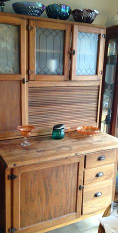 Love this wood Hoosier cabinet | Vintage Chic | Pinterest ...