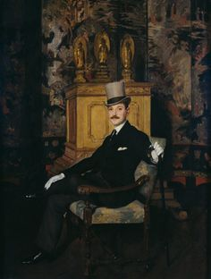 W.Somerset Maugham by Sir Gerald Kelly (1879-1972).  The epitome of the elegant gentleman. What a contrast to Graham Sutherland's portrait of him in old age.