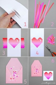 DIY Paper Hearts - 15 Most PINteresting DIY Paper Decorations | GleamItUp