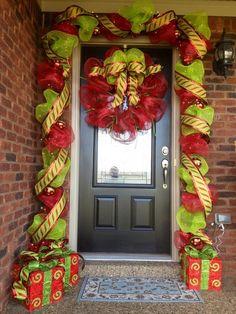 Um grupo inteiro de Natal Varanda Idéias de decoração - Decoração de Natal -