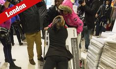OMG! The idiot behaviour has spread to the UK, and they don't celebrate Thanksgiving!  ... Mayhem as Black Friday begins: Shoppers clash in supermarkets