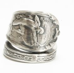 Zodiac Ring, Sagittarius Ring, Sterling Silver Spoon Ring, Astrology Ring, Sagittarius Constellation Jewelry, Adjustable Ring Size (6033) by Spoonier on Etsy