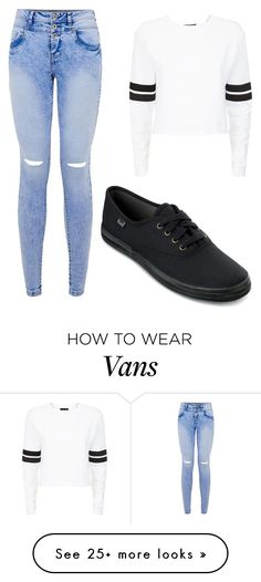 """Black Vans"" by aowens99 on Polyvore featuring Keds"