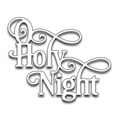 NEW-Penny Black Christmas Holiday O HOLY NIGHT Creative Steel Die  51-259 #PennyBlack
