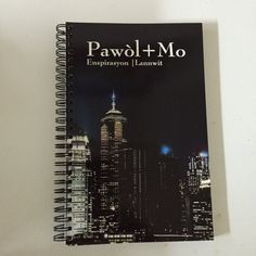 Carnet|Notebook -Pawol + Mo 20$ Available on Etsy: https://www.etsy.com/ca-fr/listing/463209147/carnet-de-note-pawol-mo?ref=shop_home_active_1