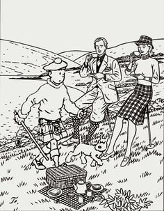 Tintin traipses through a couple's picturesque picnic