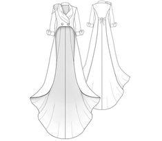 Fraque - Patrón de costura Patrón de costura a medida de Lekala con descarga online gratuita. Diy Clothing, Sewing Clothes, Clothing Patterns, Shirt Patterns, Sewing Dolls, Doll Clothes, Sewing Tutorials, Sewing Crafts, Sewing Ideas