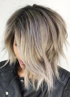 Short hair style gets an asymmetrical feel