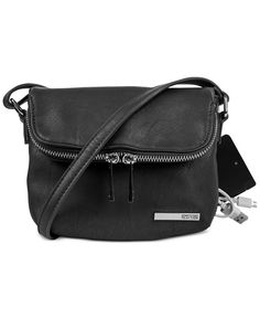 Kenneth Cole Reaction Wooster Street Foldover Phone Charging Mini Bag - Handbags…