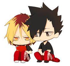 Haikyuu!! Chibi Kenma and Kuroo gif