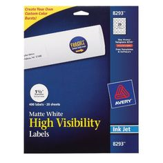 Avery High-Visibility Labels 8293