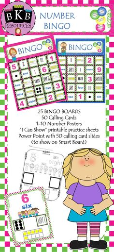 Who doesn't love BINGO? BINGO cards include, numbers, number words, dotted patterns, tally and ten frames. Fun way for students to develop their number sense skills. Visit:  https://www.teacherspayteachers.com/Product/Number-Bingo-2080668