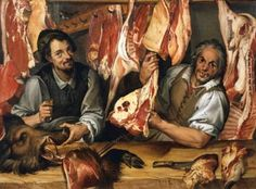 From the Untold Lives blog post 'Ghastly Kitchens'. Image: The Butcher's by Bartolomeo Passarotti ©De Agostini/The British Library Board
